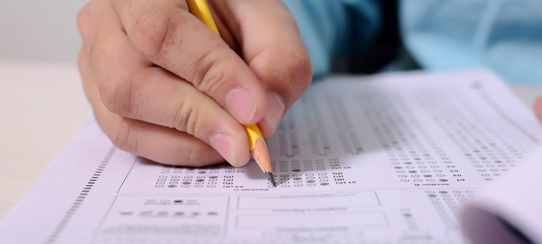 A student taking the Canadian registered nurse exam