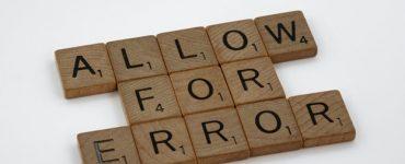 Allow for error